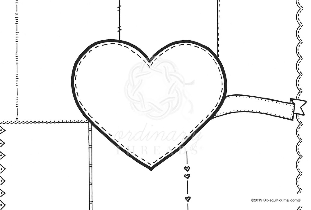 Mother's Heart template for Bible Quilt Journal