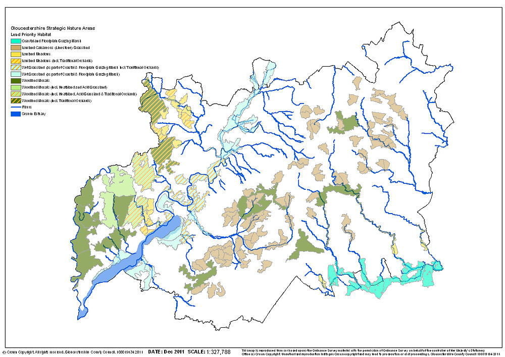 Shows Strategic Nature Areas in blocked colours plus main rivers. We need to update these boundaries and add in our GI mapping?