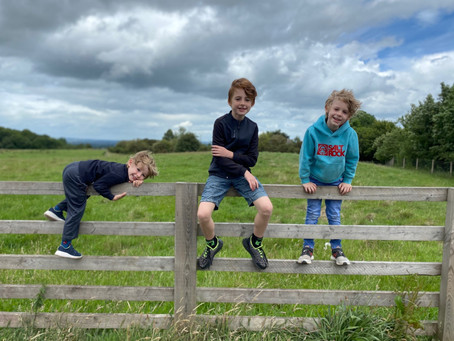 Elliot (2SM) and his brothers enjoying being outdoors.