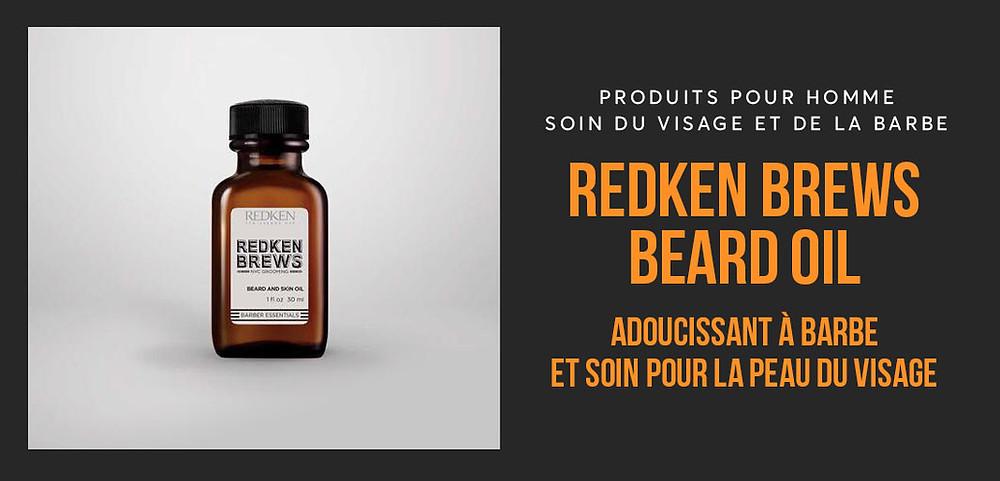 Redken Brews - Huile à barbe et soin du visage