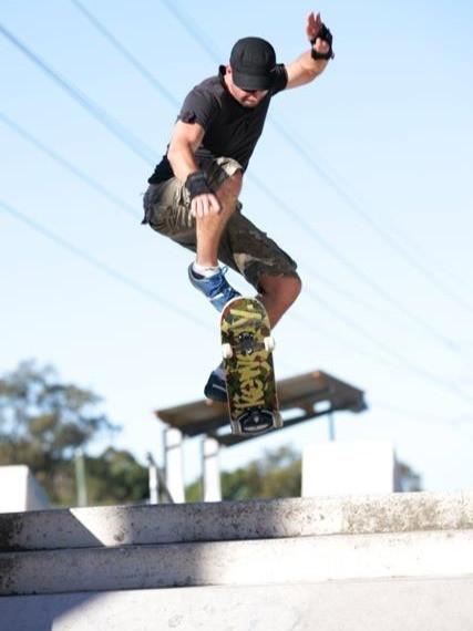 Nicholas Blewett, skateboarding. 2014