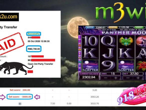 Panther-moon slot game tips to win RM2700 in 918kiss