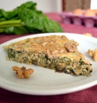 Mushrooms and Greens Frittata