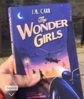 A paperback copy of The Wonder Girls just before I donated it to The Shetland Library