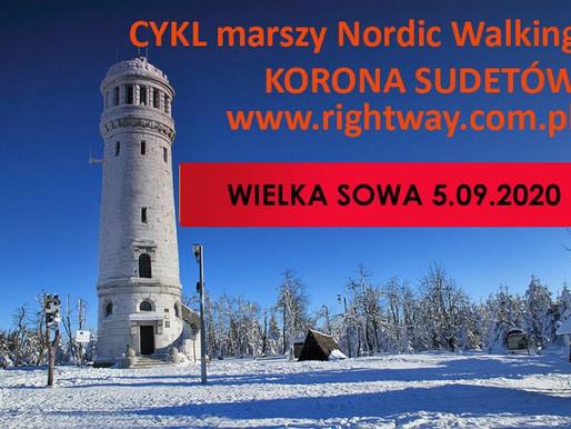 Nowy termin marszu nordic walking na Wielką Sowę - 5.09.2020