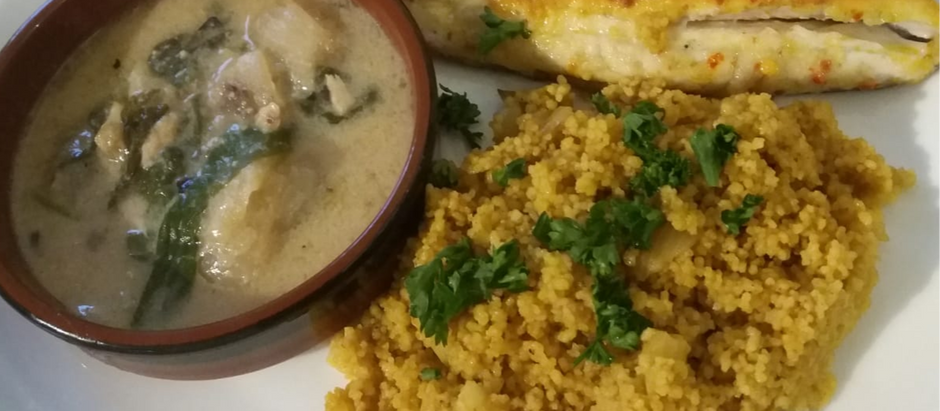 Fijian Style Coconut Fish with Couscous