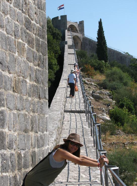 La muralla que une Ston y Mali Ston