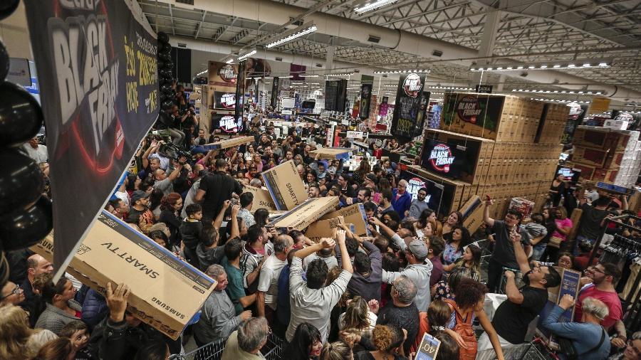 Lojas já antecipam ofertas na expectativa para a Black Friday deste ano Foto: Alex Silva/Estadão