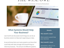 Newsletter February 2020 - What Systems Would Help Your Business?