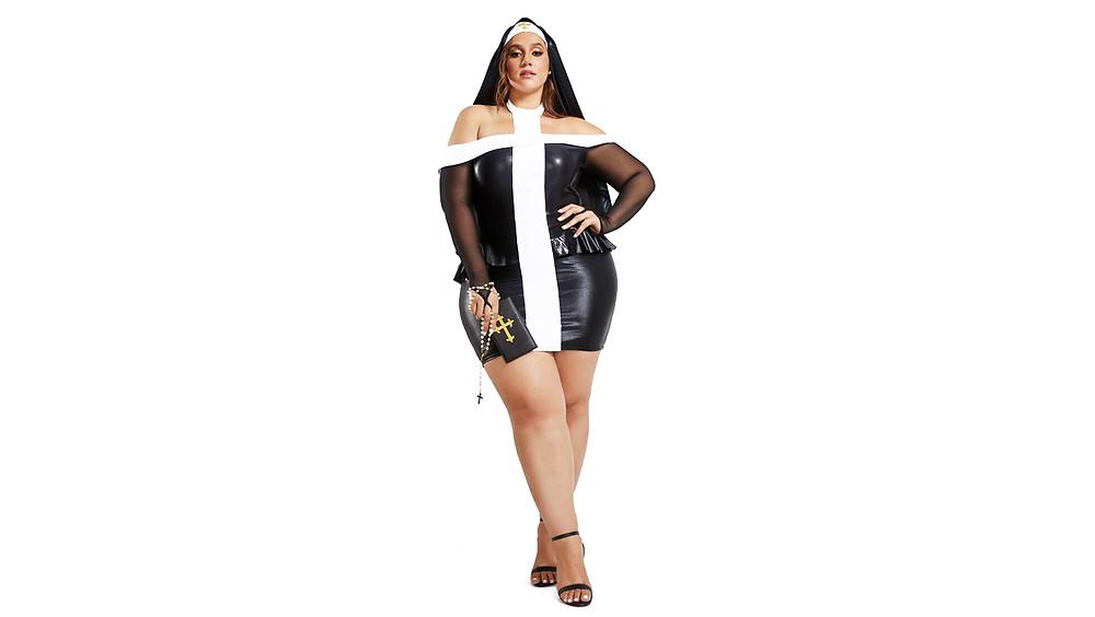Disfraz de monja, talla extra.