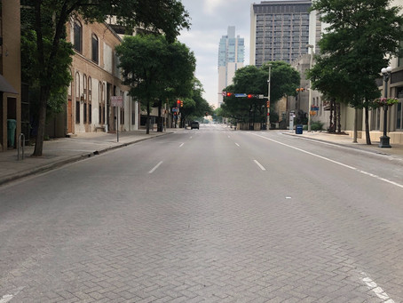 The center of San Antonio has become a ghost town