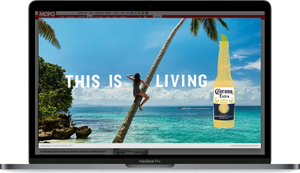 Corona Paradise Kampagne bei Welect MaxVideo im Fullscreen-Format