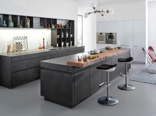 LEICHT Avance line handleless modern European kitchen cabinets.