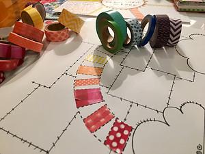 Rainbow of washi tape for #rainbowtemplate