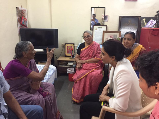 Samantha Akkineni and Nandini Reddy visit Home for the Aged