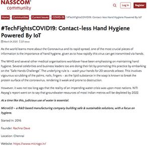 TechFightsCOVID19- Thank you Nasscom.