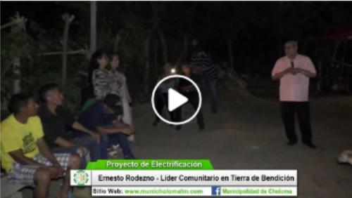 Proyecto Eléctrico en la Comunidad de Tierra de Bendición, Aldea La Jutosa