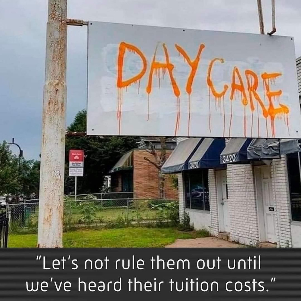 Funny Daycare Sign Meme