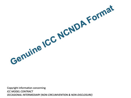 Is NCNDA worth signing? Download genuine ICC NCND agreement from ICC's website.