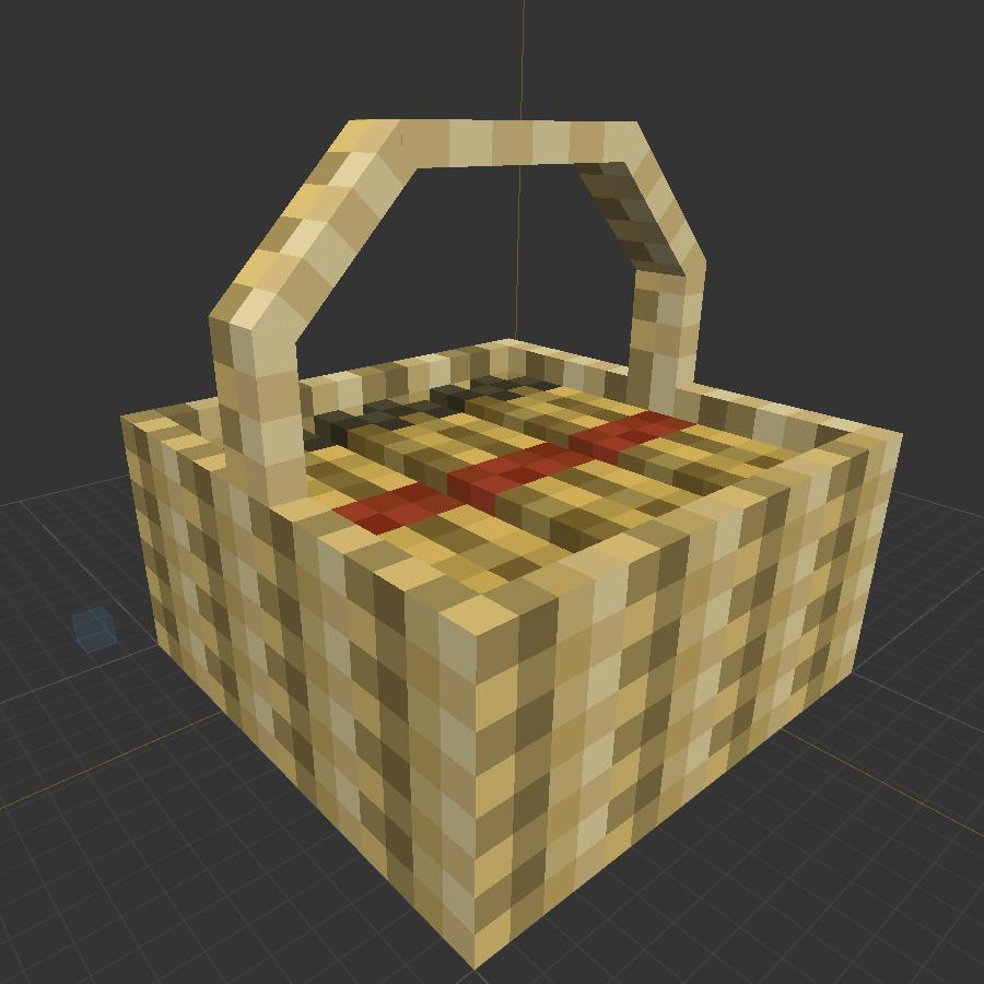 More Blox Minecraft Mod Wheat Basket