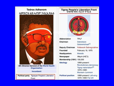 TEDROS A COMMUNIST...AND IT'S SICKENING