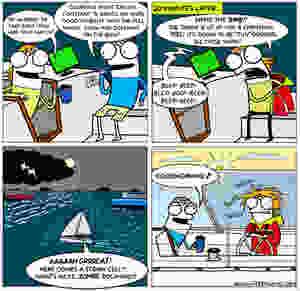 Sailing comic, cruising cartoon, Night Watch Series, sailing the world, sailing at night, cruising comic, bad sailing night watch