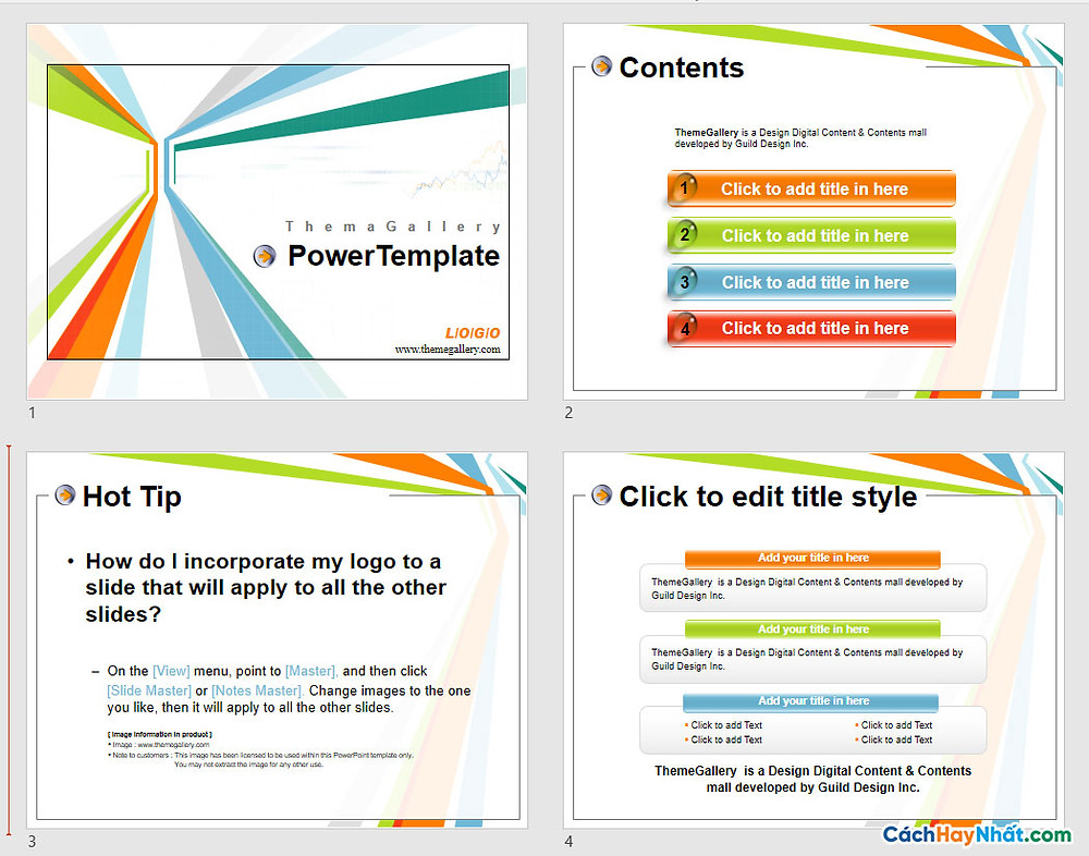 PowerPoint Template 576TGp_report_light