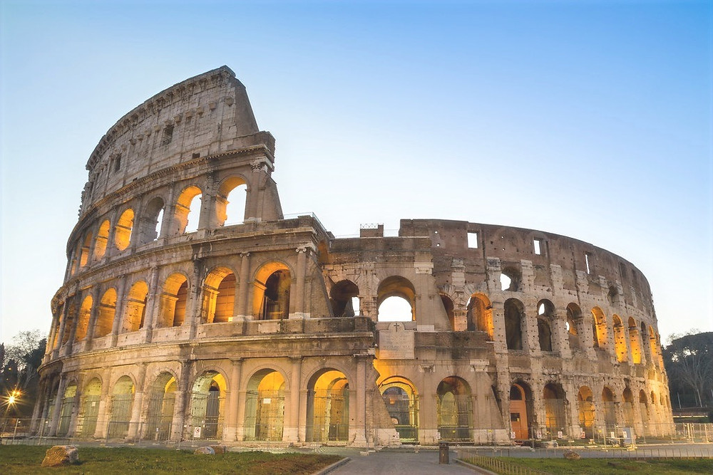 the Colosseum, the symbol of Rome dating from 80 A.D.