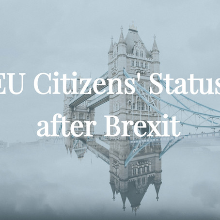 BREXIT: Important alert for EU nationals moving/living in the UK