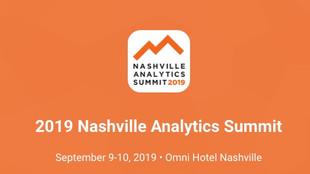 Sep 9-10   Analytics Summit   Nashville, TN