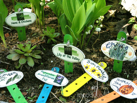 Designs your own enchanting garden labels