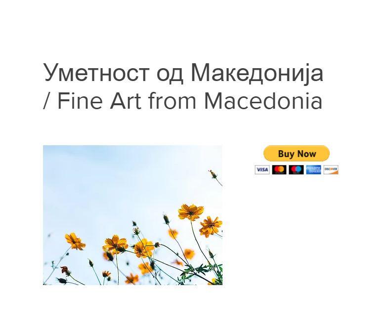 Пример на веб сајт со текст, слика од производ и копче Купи