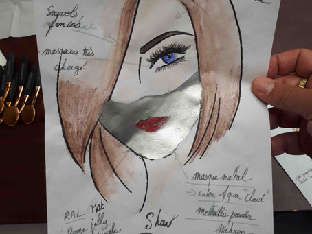 Fashion Makeup instructions for Patuna_official @ the fashion week in Paris!