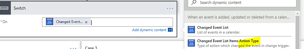 """Choose the """"Changed Event List Items Action Type"""" for your actiontype ID."""