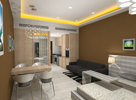A studio apartment in Dubai for young Indians