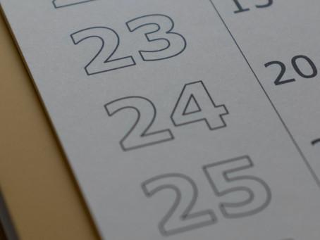 Fall College Calendars