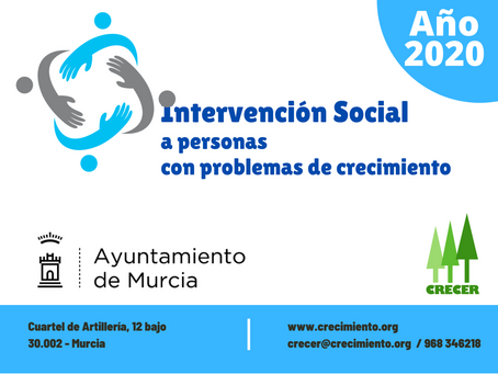 INTERVENCIÓN SOCIAL a personas con problemas de crecimiento 2020