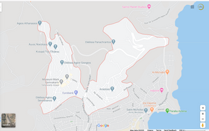 Ano Syros Map