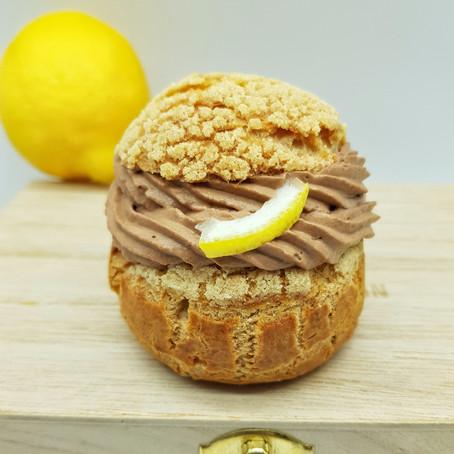 Chocolate lemon chou