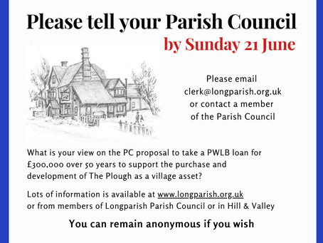 Parish Council extend community consultation period to mid-Summer's day.