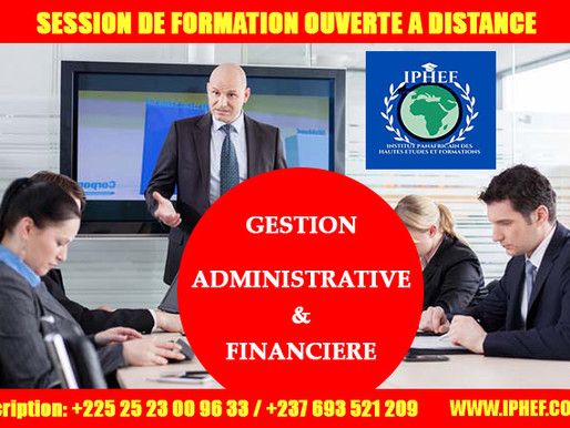 GESTION ADMINISTRATIVE ET FINANCIERE