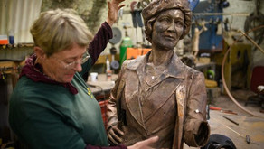 Plymouth's newest bronze statue is nearly finished