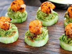 Shrimp Avocado Cucumber Appetizer