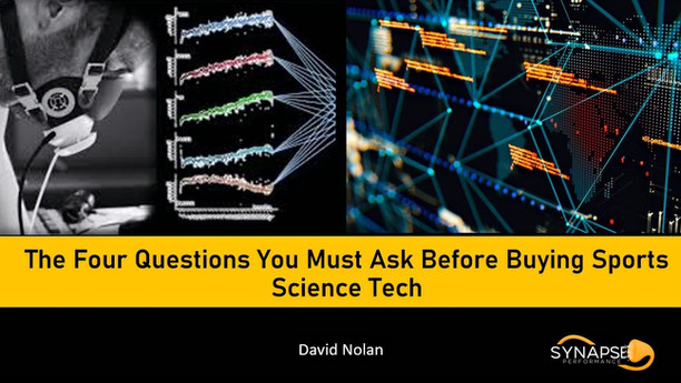 The Four Questions You Must Ask Before Buying Sports Science Technology