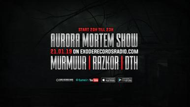 Tonight on Exode Records radio [Aurora Mortem show]
