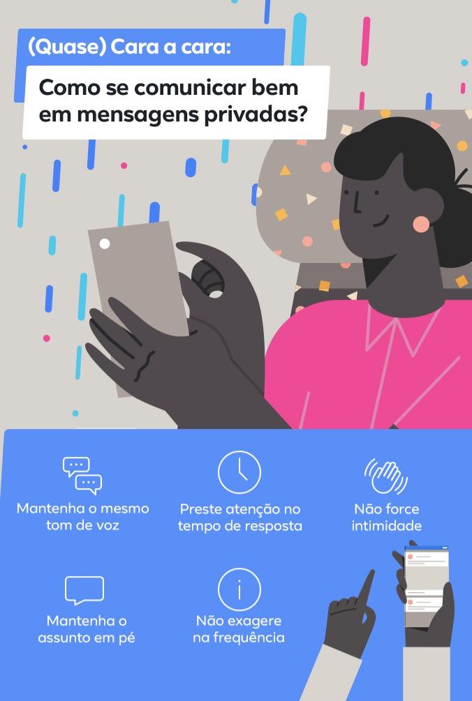 Qual é o melhor jeito de se comunicar por mensagens privadas?