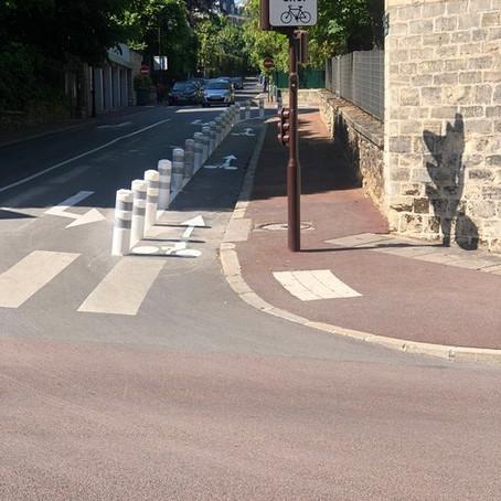 Piste cyclable rue Crillon