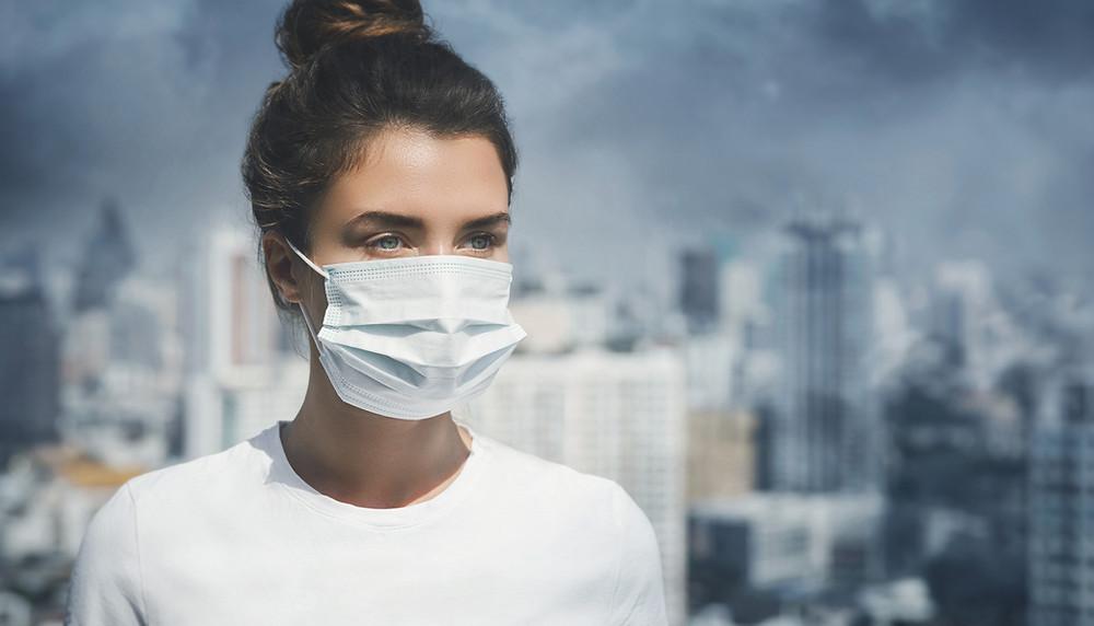 pollution de l'air , air , masque ,