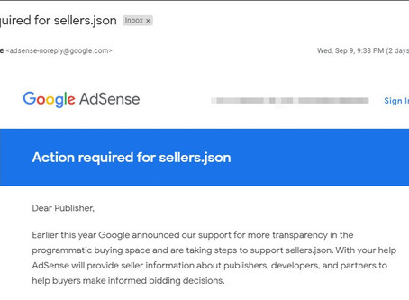 Fix sellers.json in Google Adsense