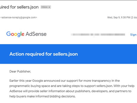 Fix sellers.json in Google Adsense